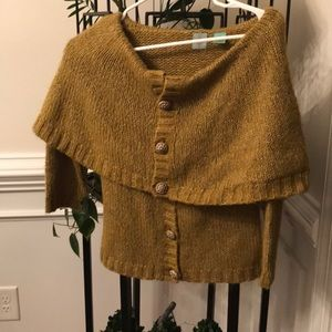 Anthropologie shawl style sweater